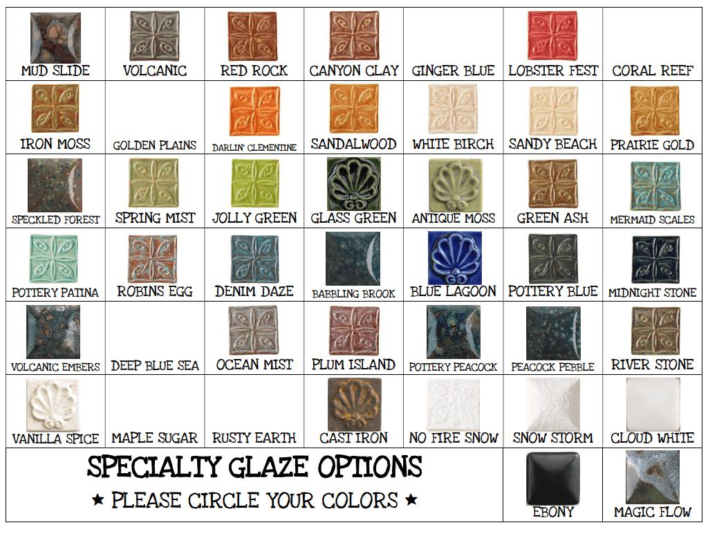 Specialty Glazes