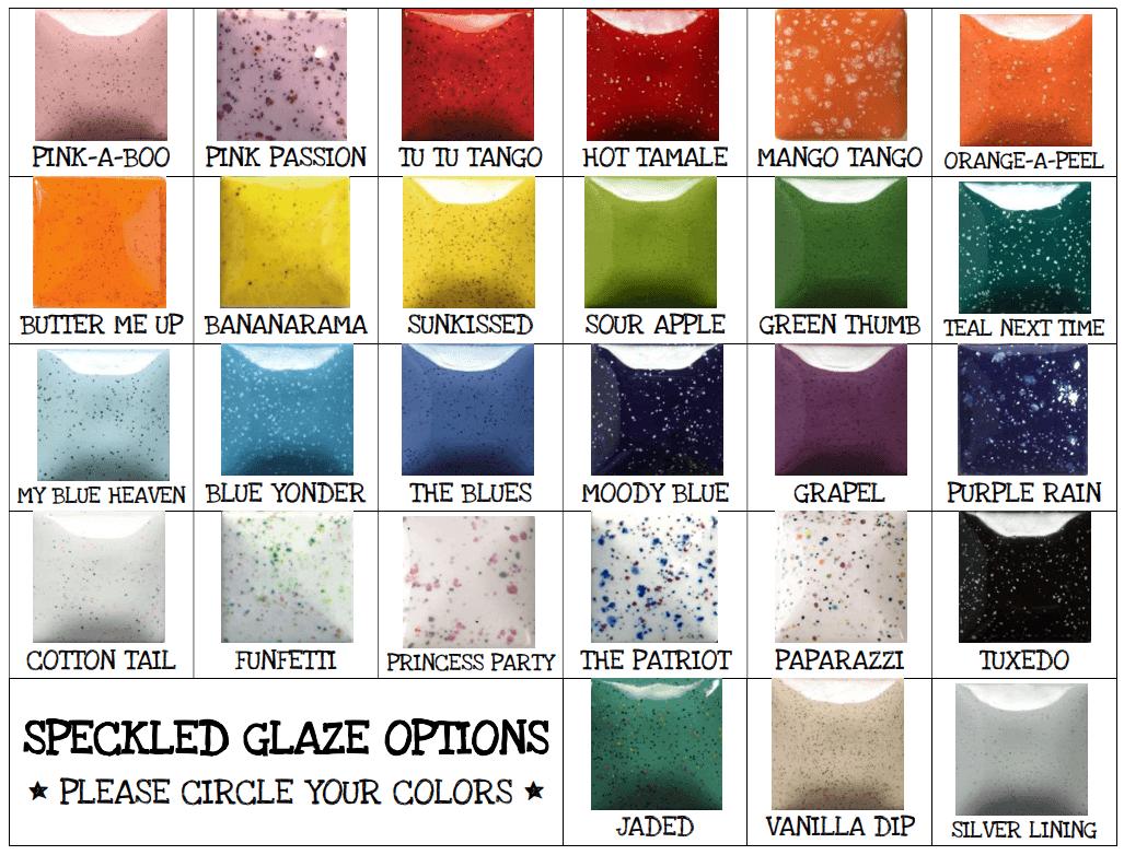 Speckled Glazes